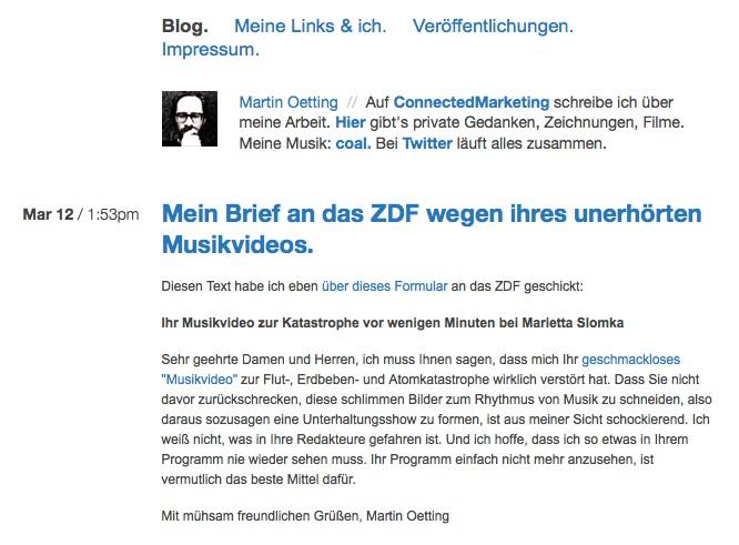 """Bedrückende Bildersoße: ZDF legt """"Klangteppich"""" unter """"Katastropen-Kollage"""""""