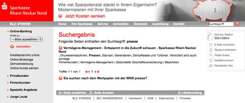 Kurios: Protokoll eines Anrufs bei der Sparkasse Rhein-Neckar-Nord