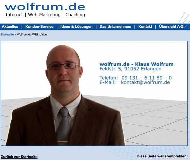 Kennen Sie Klaus Wolfrum? Das ist der Typ, der überall im Netz zu finden ist.
