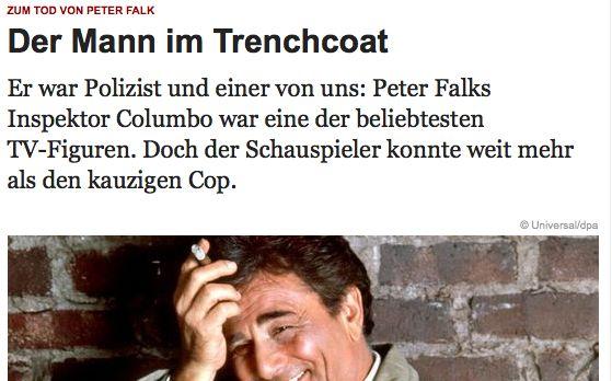 Wer schreibt den besseren Nachruf? Wikipedia oder Volker Schmidt von zeit.de?