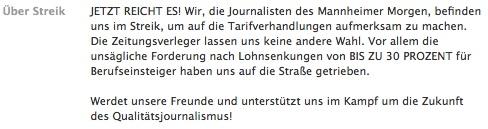 Streikende MM-Zeitungsredakteure: Wer oder was nicht passt, wird gelöscht
