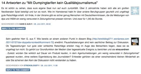 Streikende Zeitungsredakteure: Willkommen im Internet